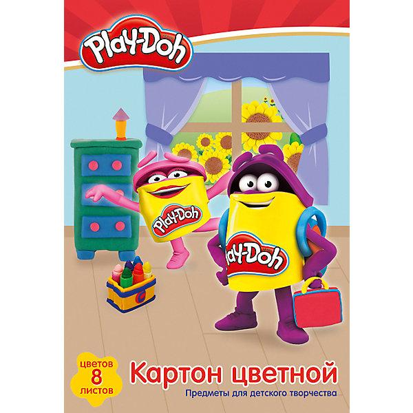 Цветной картон Академия Групп Play-Doh, 8 листовЦветная бумага и картон<br>Характеристики:<br><br>• цветной картон для детского творчества;<br>• плотность: PD14/2;<br>• цветовая гамма: 8 цветов;<br>• количество в комплекте: 8 листов;<br>• размер: 20х29 см;<br>• тип обложки: с эффектом ВД лак;<br>• упаковка: папка.<br><br>Набор для детского творчества – набор цветного картона. Набор оформлен в стиле героев Play-Doh. В процессе игры развивается цветовосприятие, творческие способности малыша, фантазия и образное мышление. <br><br>Картон цветной для детского творчества 8цв 8л можно купить в нашем интернет-магазине.<br>Ширина мм: 290; Глубина мм: 200; Высота мм: 8; Вес г: 68; Возраст от месяцев: 36; Возраст до месяцев: 72; Пол: Унисекс; Возраст: Детский; SKU: 7319924;