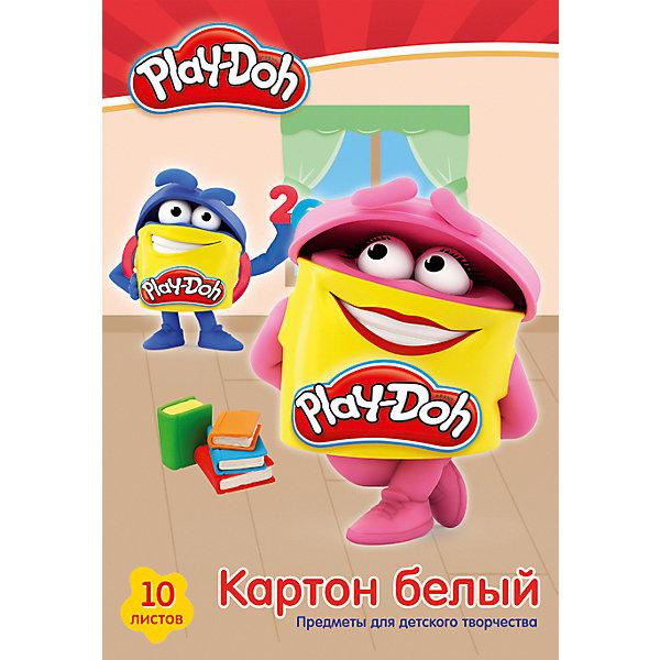 Академия групп Белый картон Академия Групп Play-Doh, 10 листов папка для тетрадей академия групп 24 18 5 2 5см star wars а5 sweb us1 cpbfl
