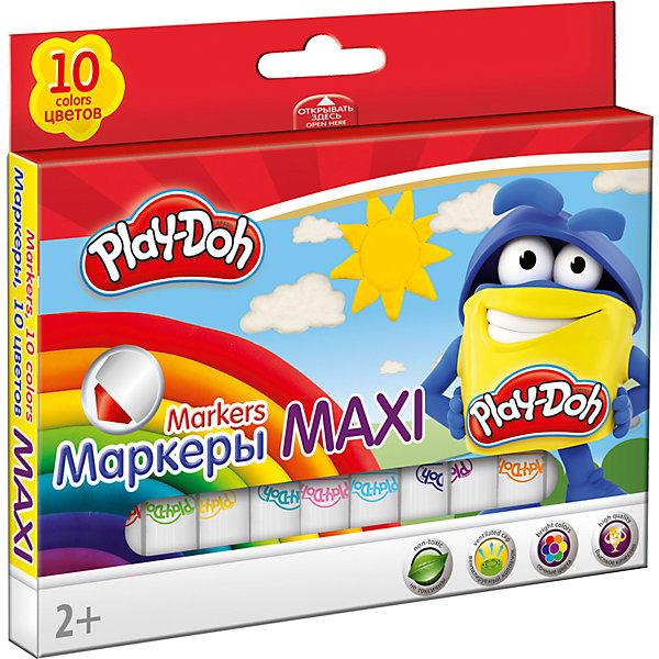 Фломастеры Mega Jumbo Академия Групп Play-Doh укороченные, 10 цветовФломастеры<br>Характеристики:<br><br>• цветные фломастеры для творчества, 10 цветов;<br>• тип фломастеров: макси, 13,6х1,55 см;<br>• утолщенная форма корпуса;<br>• увеличенное содержание чернил;<br>• нейлоновый стержень;<br>• улучшенный пишущий узел;<br>• безопасный фетровый наконечник закругленной формы;<br>• вентилируемый колпачек, непрозрачный, в цвет наконечника;<br>• материал: нетоксичный пластик, чернила;<br>• упаковка: коробка из мелованного картона с 4С печатью;<br>• размер упаковки: 16,4х12,8х1,5 см;<br>• вес: 114 г.<br><br>Фломастеры с безопасным наконечником используются в процессе развивающих занятий с детьми старше 2-х лет. Фломастеры имеют утолщенную форму корпуса и увеличенное содержание чернил – маленьким художникам предоставлен простор для творческих порывов. Фетровый наконечник закругленной формы выдерживает самый сильный нажим и удар. Каждый фломастер рисует под любым углом. На корпусе фломастера – печать под цвет наконечника, все фломастеры белого цвета.<br><br>Набор фломастеров Maxi, 10 цв. можно купить в нашем интернет-магазине.<br>Ширина мм: 15; Глубина мм: 155; Высота мм: 105; Вес г: 120; Возраст от месяцев: 36; Возраст до месяцев: 72; Пол: Унисекс; Возраст: Детский; SKU: 7319930;