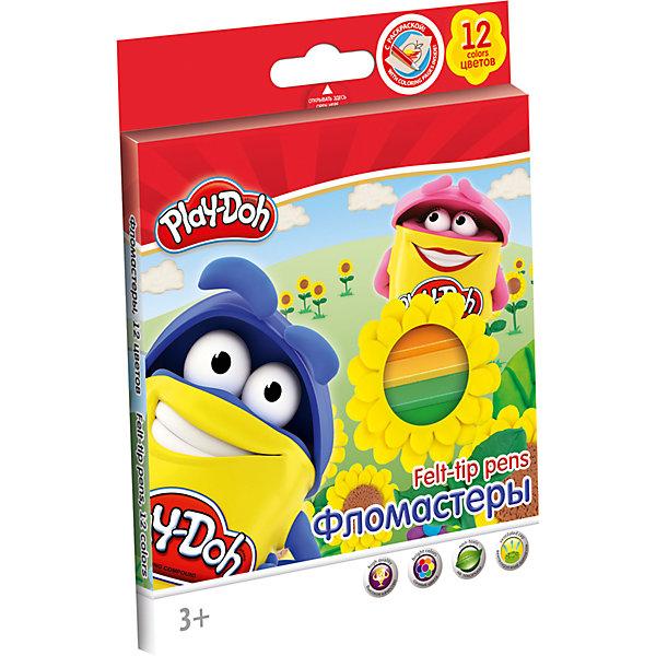 Фломастеры Академия Групп Play-Doh, 12 цветовФломастеры<br>Характеристики:<br><br>• цветные фломастеры для творчества, 12 цветов;<br>• размер фломастеров: 14,9х0,86 см;<br>• нейлоновый стержень;<br>• улучшенный пишущий узел;<br>• безопасный фетровый наконечник закругленной формы;<br>• вентилируемый колпачек, непрозрачный, в цвет наконечника;<br>• материал: нетоксичный пластик, чернила;<br>• упаковка: картонная коробка с держателем для фломастеров;<br>• размер упаковки: 17,6х12,7х1,2 см;<br>• вес: 114 г.<br><br>Фломастеры с безопасным наконечником используются в процессе развивающих занятий с детьми старше 3-х лет. Фетровый наконечник закругленной формы выдерживает самый сильный нажим и удар. Каждый фломастер рисует под любым углом. На корпусе фломастера имеется тиснение «серебром».<br><br>Набор фломастеров 12 цв.+ раскраска можно купить в нашем интернет-магазине.<br>Ширина мм: 12; Глубина мм: 127; Высота мм: 176; Вес г: 97; Возраст от месяцев: 36; Возраст до месяцев: 72; Пол: Унисекс; Возраст: Детский; SKU: 7319932;