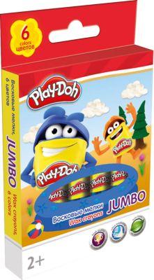 Play-Doh Восковые мелки Jumbo Академия Групп