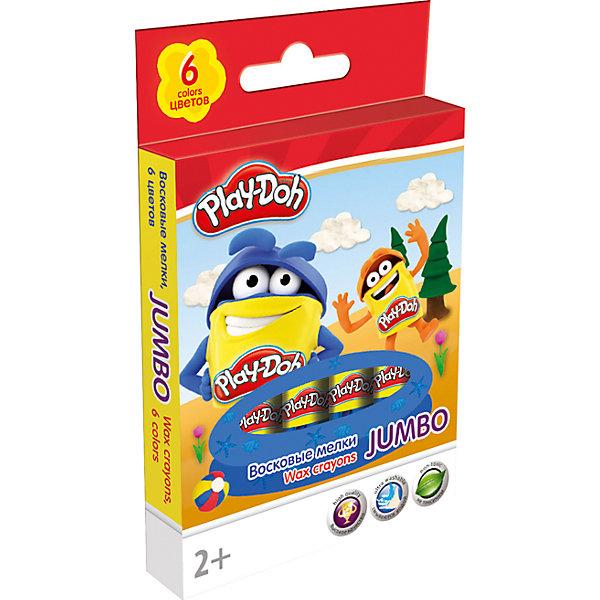 Восковые мелки Jumbo Академия Групп Play-Doh 6 цветовМасляные и восковые мелки<br>Характеристики:<br><br>• набор восковых мелков, 6 шт.;<br>• используются для рисования на бумаге и картоне;<br>• цветовая гамма: 6 цветов;<br>• корпус каждого мелка в бумажной обертке;<br>• упаковка: картонная коробка;<br>• размер упаковки: 13,7х8,5х1,5 см;<br>• вес: 100 г.<br><br>Восковые мелки для детского творчества используются во время проявления фантазии малыша, когда ему хочется изобразить свои мысли и чувства. Мелками можно рисовать на картоне и бумаге. <br><br>Восковые мелки. Play-Doh можно купить в нашем интернет-магазине.<br>Ширина мм: 15; Глубина мм: 85; Высота мм: 137; Вес г: 100; Возраст от месяцев: 36; Возраст до месяцев: 72; Пол: Унисекс; Возраст: Детский; SKU: 7319934;