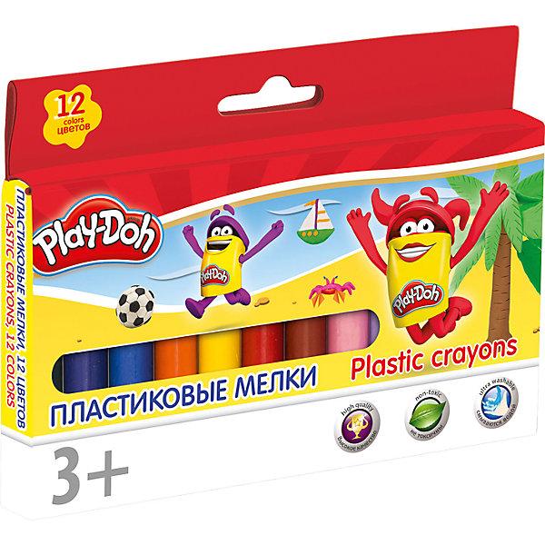 Академия групп Восковые мелки Академия Групп Play-Doh, 12 цветов play doh мелки восковые пальчиковые 4 шт