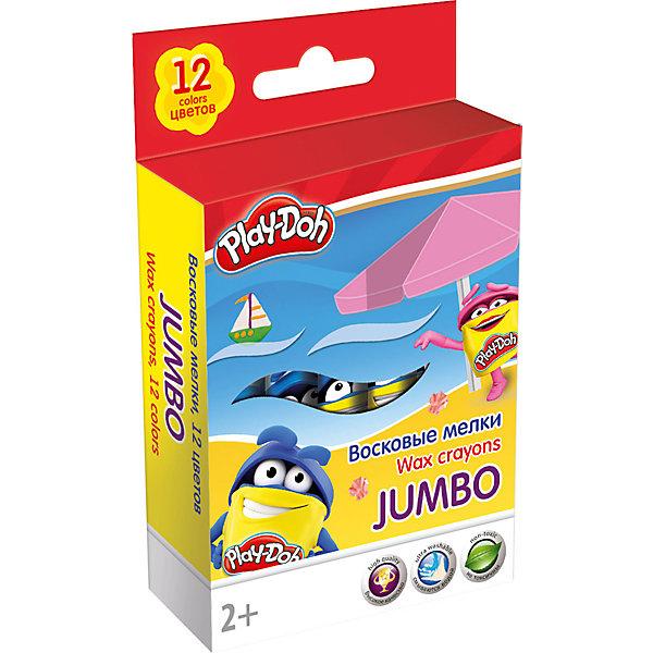 Академия групп Восковые мелки Jumbo Академия Групп Play-Doh 12 цветов play doh мелки восковые пальчиковые 4 шт