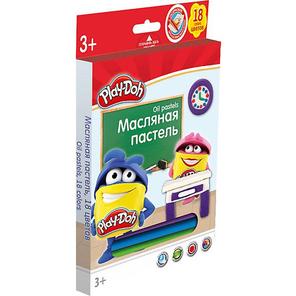Академия групп Восковые мелки Академия Групп Play-Doh Пстель масляная, 18 цветов карандаши восковые мелки пастель berlingo карандаши замки 18 цветов