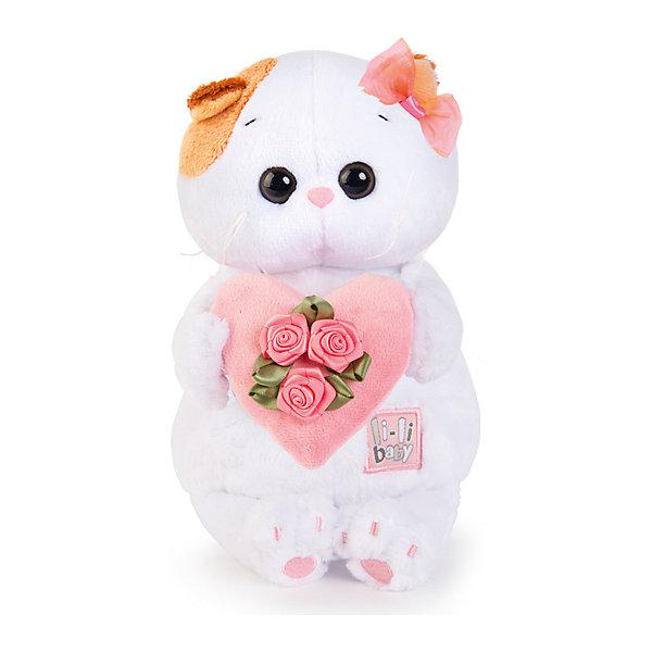 Budi Basa Мягкая игрушка Budi Basa Кошечка Ли-Ли Baby с розовым сердечком, 20 см кувшинчик с сердечком аромалампа керамика 8х10 см без упаковки