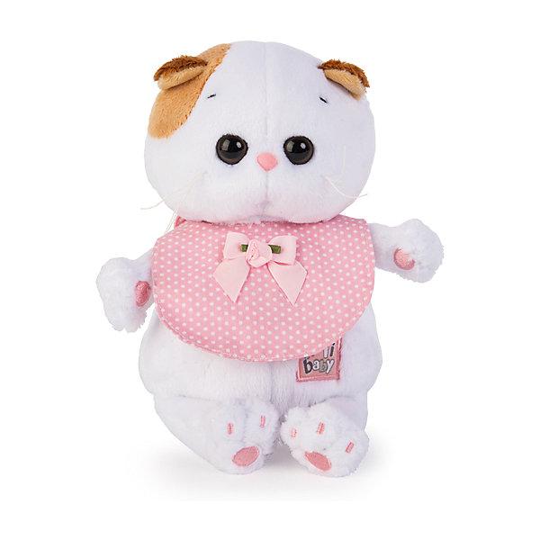 Budi Basa Мягкая игрушка Budi Basa Кошечка Ли-Ли Baby в розовом слюнявчике, 20 см