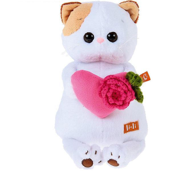 Мягкая игрушка Budi Basa Кошка Ли-Ли с розовым сердечком, 24 смМягкие игрушки-кошки<br>Характеристики товара:<br><br>• возраст: от 3 лет;<br>• материал: текстиль, искусственный мех;<br>• высота игрушки: 24 см;<br>• размер упаковки: 27х16х14 см;<br>• вес упаковки: 440 гр.;<br>• страна производитель: Россия.<br><br>Мягкая игрушка «Ли-Ли с розовым сердечком» Budi Basa — очаровательная пушистая белоснежная кошечка с большими глазками и оранжевыми ушками.<br><br>Игрушка выполнена из качественного безопасного материала, настолько приятного и мягкого, что ребенок будет брать с собой котенка в кроватку и спать в обнимку.<br><br>Мягкую игрушку «Ли-Ли с розовым сердечком» Budi Basa можно приобрести в нашем интернет-магазине.<br>Ширина мм: 270; Глубина мм: 160; Высота мм: 140; Вес г: 440; Возраст от месяцев: 36; Возраст до месяцев: 2147483647; Пол: Унисекс; Возраст: Детский; SKU: 7320002;