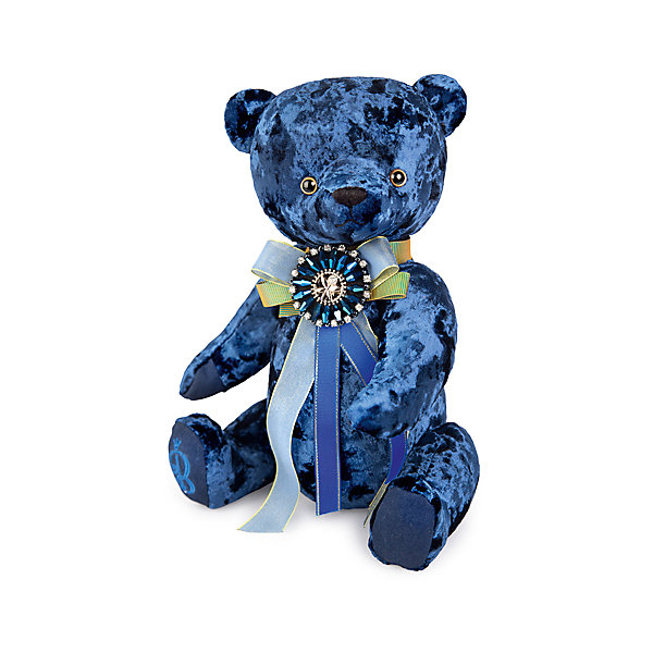 Budi Basa Мягкая игрушка Медведь БернАрт, сапфировый, 30 см