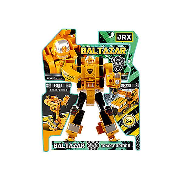 Робот-трансформер JRX Baltazar, Подъемный кранТрансформеры-игрушки<br>Характеристики товара:<br><br>• возраст: от 3 лет;<br>• материал: пластик, металл;<br>• высота робота: 15 см;<br>• размер упаковки: 27х22х8 см;<br>• вес упаковки: 326 гр.;<br>• страна производитель: Китай.<br><br>Трансформер-строитель «Gambit Подъемник» JRX представляет собой робота, который способен трансформироваться в подъемник. Трансформация происходит легко и просто, занимает всего пару минут и не создаст трудностей даже для маленьких детей. Игрушка выполнена из качественного безопасного пластика.<br><br>Трансформера-строителя «Gambit Подъемник» JRX можно приобрести в нашем интернет-магазине.<br>Ширина мм: 270; Глубина мм: 220; Высота мм: 80; Вес г: 326; Возраст от месяцев: 36; Возраст до месяцев: 2147483647; Пол: Мужской; Возраст: Детский; SKU: 7320099;