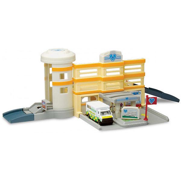 Игровой набор Autotime Megapolis Больница с машинойПарковки и гаражи<br>Характеристики:<br><br>• возраст: от 3 лет;<br>• тип игрушки:набор;<br>• материал: пластик, металл;<br>• размер: 15,5х21,6х6,4 см;<br>• вес: 406 гр;<br>• страна бренда: США;<br>• страна производитель: Китай;<br>• тип упаковки: коробка с окошком;<br>• бренд: Autogrand.<br><br>Набор транспортный Autogrand «MEGAPOLIS» больница с маш. 1:60 включает в себя здание из пластика и машинку в масштабе 1:60. Это новое поколение машинок, которые пришлись по вкусу мальчикам от трех лет и старше. С таким набором ребенок сможет разыгрывать увлекательные и захватывающие сюжеты. <br><br>Машина изготовлена из литого металла и пластмассы. Машинка сделана из безопасных материалов, разрешенных для детей. Так же красители, которыми окрашены все части автомобиля являются гипоаллергенными и не навредят здоровью ребенка. Игрушка прошла все необходимые проверки и получили все сертификаты качества.<br><br>Набор транспортный Autogrand «MEGAPOLIS» больница с маш. 1:60 можно купить в нашем интернет-магазине.<br>Ширина мм: 155; Глубина мм: 216; Высота мм: 64; Вес г: 406; Возраст от месяцев: 36; Возраст до месяцев: 2147483647; Пол: Мужской; Возраст: Детский; SKU: 7321069;