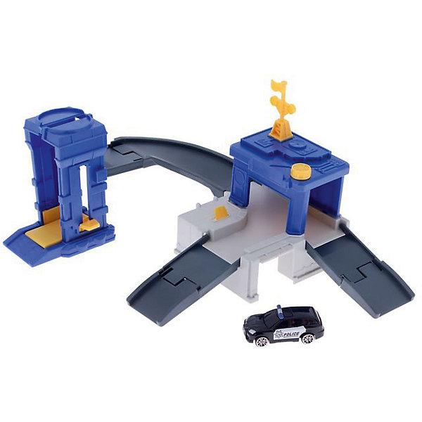 Игровой набор Autotime Megapolis Полиция с машинойПарковки и гаражи<br>Характеристики:<br><br>• возраст: от 3 лет;<br>• тип игрушки:набор;<br>• материал: пластик, металл;<br>• размер: 15,5х21,6х6,4 см;<br>• вес: 468 гр;<br>• страна бренда: США;<br>• страна производитель: Китай;<br>• тип упаковки: коробка с окошком;<br>• бренд: Autogrand.<br><br>Набор транспортный Autogrand «MEGAPOLIS» полиция с маш. 1:60 включает в себя здание из пластика и машинку в масштабе 1:60. Это новое поколение машинок, которые пришлись по вкусу мальчикам от трех лет и старше. С таким набором ребенок сможет разыгрывать увлекательные и захватывающие сюжеты. <br><br>Машина изготовлена из литого металла и пластмассы. Машинка сделана из безопасных материалов, разрешенных для детей. Так же красители, которыми окрашены все части автомобиля являются гипоаллергенными и не навредят здоровью ребенка. Игрушка прошла все необходимые проверки и получили все сертификаты качества.<br><br>Набор транспортный Autogrand «MEGAPOLIS» полиция с маш. 1:60 можно купить в нашем интернет-магазине.<br>Ширина мм: 155; Глубина мм: 216; Высота мм: 64; Вес г: 468; Возраст от месяцев: 36; Возраст до месяцев: 2147483647; Пол: Мужской; Возраст: Детский; SKU: 7321070;
