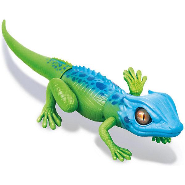 ZURU Интерактивная игрушка Zuru Робо-ящерица, сине-зеленая (движение) zuru интерактивная игрушка zuru робо змея красная движение