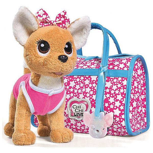 "Simba Мягкая игрушка Simba Chi-Сhi Love Собачка ""Звездный стиль"" с сумочкой, 20 см"