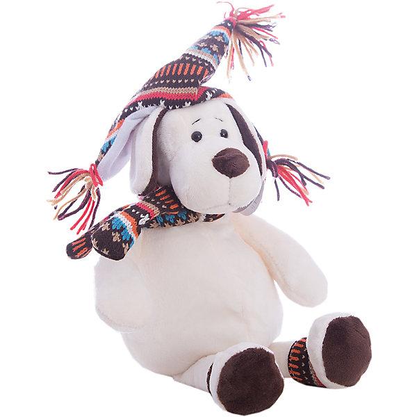 Мягкая игрушка TEDDY Собака в шапке, 24 смСимвол 2018 года: Собака<br>Характеристики:<br><br>• тип игрушки: мягкая игрушка;<br>• возраст: от 3 лет;<br>• вес: 144 гр;<br>• высота: 24 см;<br>• материал: искусственный мех, наполнитель, пластик;<br>• размер: 8х5х8 см;<br>• бренд: TEDDY.<br><br>Собака в шапке от Teddy станет отличным подарком для детей от трех лет и старше.Мягкая игрушка выполнена в виде забавной собаки, на которую надета зимняя шапка яркой расцветки. Такой очаровательный зверек несомненно привлечет внимание ребят благодаря своему милому виду. <br><br>Игрушка наполнена мягким материалом и сшита из искусственного меха. Такое сочетание придает ей необычайную мягкость, и обнимать такую собачку - одно удовольствие. <br><br>Игрушка сделана из безопасных материалов. Так же красители являются гипоаллергенными и не навредят здоровью ребенка. Мягкая собачка прошла все необходимые проверки и получила все сертификаты качества.<br><br>Собаку в шапке можно купить в нашем интернет-магазине.<br>Ширина мм: 80; Глубина мм: 50; Высота мм: 80; Вес г: 144; Возраст от месяцев: 36; Возраст до месяцев: 180; Пол: Унисекс; Возраст: Детский; SKU: 7322664;
