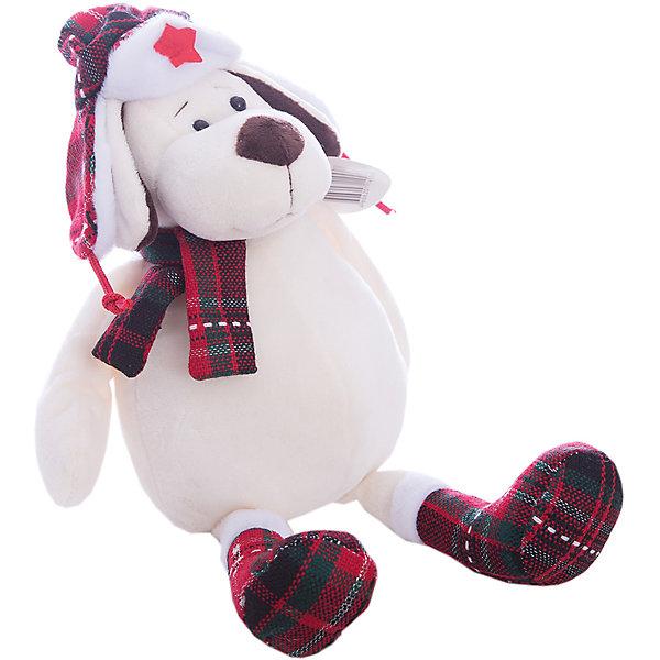 TEDDY Мягкая игрушка TEDDY Собака в ушанке с шарфом, 24 см teddy мягкая игрушка собака в кепке 15 см
