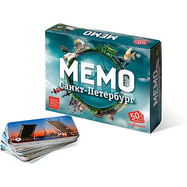 Мемо. Санкт-ПетербургИгры мемо<br>Характеристики:<br><br>• тип игрушки: настольная игра;<br>• комплектация: 50 карточек;<br>• возраст: от 5 лет;<br>• размер: 17x2,5x4 см; <br>•бренд: Бэмби;<br>• издатель: Нескучные игры;<br>• упаковка: картонная коробка;<br>• материал: картон.<br><br>Мемо «Санкт-Петербург» – действительно интересная и удивительно полезная игра. Она с лёгкостью поднимет настроение большой и маленькой компании. «Мемо» - одна из тех редких игр, где успех чаще зависит от способностей и стараний игрока, чем от удачи.  Игра состоит из карточек с парными изображениями. Это игра, безусловно, расширяет кругозор, развивает внимание, тренирует память.<br><br>Перед началом игры карточки перемешиваются и раскладываются на столе картинками вниз. Играют несколько игроков. В свой ход игрок переворачивает 2 любые карточки и показывает их остальным игрокам. Если карточки одинаковые, игрок забирает их себе и делает еще один ход. Если разные - переворачивает их и кладет обратно, а ход переходит к следующему игроку. Выигрывает игрок, собравший к концу игры наибольшее количество карточек. А если у вас есть карта Санкт-Петербурга, то вы можете усложнить игру, добавив в неё задание, где ребёнку предлагается расположить карточку в соответствии с её реальным местоположением на карте.<br><br>Мемо «Санкт-Петербург»  можно купить в нашем интернет-магазине.<br>Ширина мм: 170; Глубина мм: 125; Высота мм: 40; Вес г: 145; Возраст от месяцев: 60; Возраст до месяцев: 2147483647; Пол: Унисекс; Возраст: Детский; SKU: 7323554;