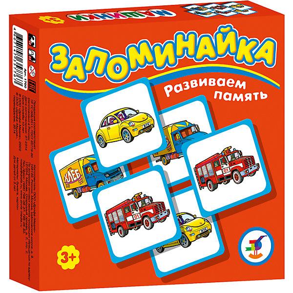 Запоминайка. МашинкиОбучающие игры<br>Характеристики:<br><br>• тип игрушки: настольная игра;<br>• комплектация: 25 карточек, правила;<br>• возраст: от 3 лет;<br>• размер: 16,5x16,5х3 см;<br>• издатель: Дрофа;<br>• упаковка: картонная коробка;<br>• материал: картон.<br><br>Игра «Запоминайка. Машинки» совсем не сложная и в то же время очень увлекательная. В комплект игры входит двадцать пять карточек с изображением разных маленьких автомобилей. Игра формирует навыки соединения деталей, развивает мелкую моторику рук и наглядно-образное мышление. Тренирует зрительную память.<br><br>Игры серии основаны на известном принципе «Memory» и направлены на развитие внимания и памяти. Перед игроками изображением вниз разложены карточки. Задача игроков - по очереди открывать и закрывать по две карточки, стараясь найти одинаковые. Яркие, крупные карточки и забавные картинки делают игру привлекательной даже для самых маленьких детей.<br><br>Игру «Запоминайка. Машинки» можно купить в нашем интернет-магазине.<br>Ширина мм: 165; Глубина мм: 165; Высота мм: 30; Вес г: 150; Возраст от месяцев: 36; Возраст до месяцев: 2147483647; Пол: Унисекс; Возраст: Детский; SKU: 7323573;