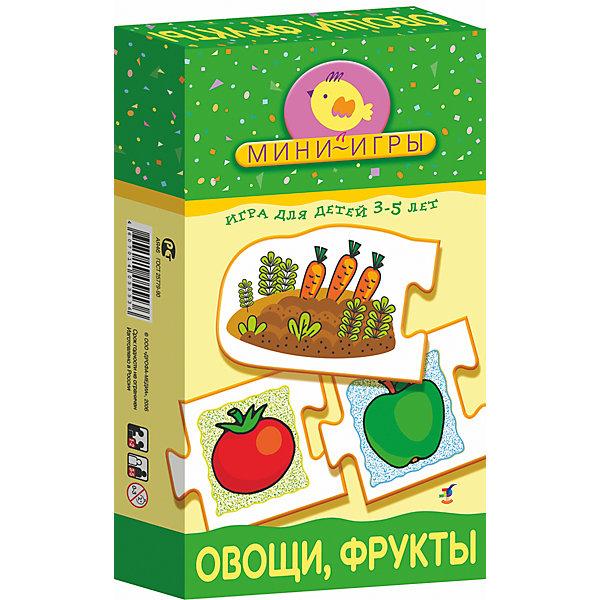МИ. Овощи. ФруктыОбучающие карточки<br>Характеристики:<br><br>• тип игрушки: настольная;<br>• комплектация: 20 карточек, правила;                                                                <br>• возраст: от 3 лет;<br>• размер: 12x20х3,5 см;<br>• издатель: Дрофа;<br>• упаковка: картонная коробка;<br>• материал: картон.<br><br>Игра «МИ. Овощи и фрукты» совсем не сложная и в то же время очень увлекательная. В комплект игры входит 20 карточек и правила. Игра представляет собой готовые к использованию, разрезанные карточки с пояснениями на обратной стороне. <br><br>Игра-ассоциация познакомит ребёнка с различными группами растений: овощами, фруктами, ягодами, цветами. Цель игры очень простая и в то же время полезная — научить ребёнка объединять различные виды растений в группы и называть эти группы обобщающими словами (цветы, фрукты, овощи, ягоды). В процессе игры совершенствуется мелкая моторика рук, ребёнок учится самостоятельно рассуждать, сопоставлять и, что очень важно, анализировать.<br><br>Все материалы, из которых изготовлены карточки, являются гипоаллергенными и прошли все необходимые для детских игрушек проверки на соответствие стандартам качества. <br><br>Игру «МИ. Овощи и фрукты» можно купить в нашем интернет-магазине.<br>Ширина мм: 120; Глубина мм: 200; Высота мм: 35; Вес г: 140; Возраст от месяцев: 36; Возраст до месяцев: 2147483647; Пол: Унисекс; Возраст: Детский; SKU: 7323609;