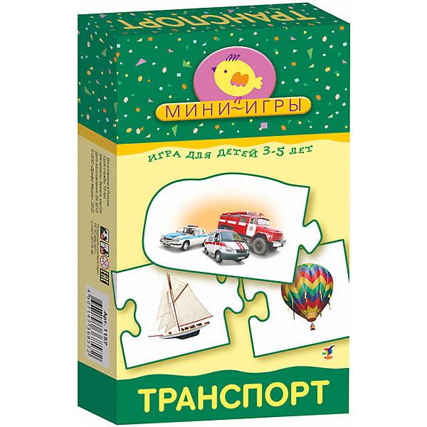 МИ. ТранспортОбучающие карточки<br>Характеристики:<br><br>• тип игрушки: настольная;<br>• комплектация: 20 карточек, правила;                                                                <br>• возраст: от 3 лет;<br>• размер: 12x20х3,5 см;<br>• издатель: Дрофа;<br>• упаковка: картонная коробка;<br>• материал: картон.<br><br>Игра «МИ. Транспорт» совсем не сложная и в то же время очень увлекательная. В комплект игры входит 20 карточек и правила. Игра представляет собой готовые к использованию, разрезанные карточки с пояснениями на обратной стороне. <br>Игра знакомит с разными видами транспорта: воздушным, водным, общественным, специальными машинами, развивает внимание, мышление, мелкую моторику, расширяет кругозор.<br><br> Все материалы, из которых изготовлены карточки, являются гипоаллергенными и прошли все необходимые для детских игрушек проверки на соответствие стандартам качества. <br><br>Игру «МИ. Транспорт» можно купить в нашем интернет-магазине.<br>Ширина мм: 120; Глубина мм: 200; Высота мм: 35; Вес г: 135; Возраст от месяцев: 36; Возраст до месяцев: 2147483647; Пол: Унисекс; Возраст: Детский; SKU: 7323618;