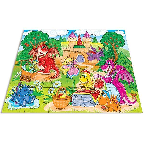 Дрофа-Медиа Напольный пазл Дрофа-Медиа Веселые дракончики дрофа медиа аппликация разноцветная мозаика для малышей гномик