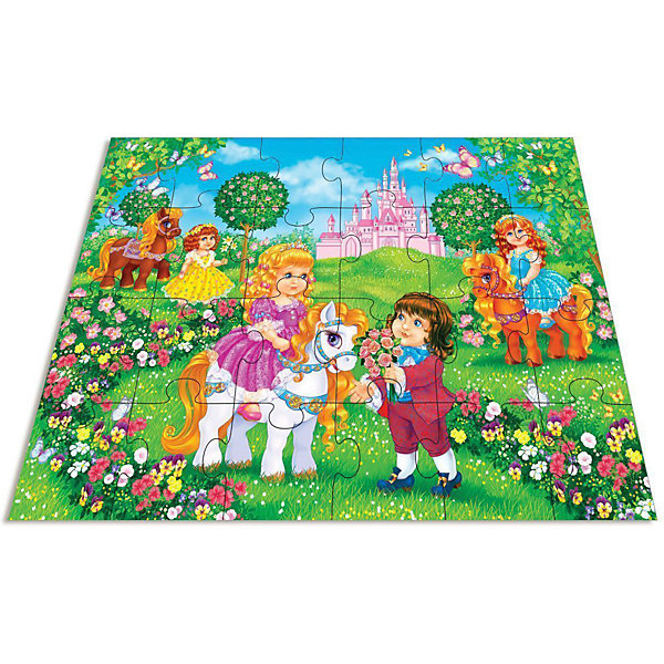 Дрофа-Медиа Напольный пазл Дрофа-Медиа Принц и принцесса дрофа медиа аппликация разноцветная мозаика для малышей гномик