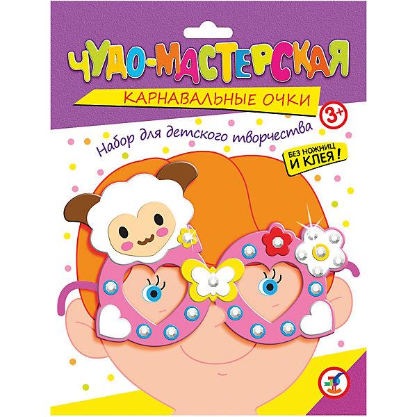 Праздничные очки. ОвечкаДетские карнавальные маски<br>Характеристики:<br><br>• тип игрушки: настольная игра;<br>• комплектация: пластмассовые очки,  детали из ЭВА на самоклеящейся основе (7—9 цветов), декоративные элементы на самоклеящейся основе (стразы, глазки), двусторонняя клейкая лента, цветная листовка-образец;                                                                <br>• возраст: от 3 лет;<br>• размер: 15,5x20х1,5 см;<br>• издатель: Дрофа;<br>• упаковка: картонная коробка;<br>• материал: картон.<br><br>Игра «Праздничные очки. Овечка» разработана для детей от 3 лет. Необычный и весёлый аксессуар для детского праздника. Цветовая гамма изделия яркая и красочная. <br>Сделайте вместе с детьми оригинальные карнавальные очки. Для этого вам не понадобятся ни ножницы, ни клей. Всё, что нужно для работы есть в наборе. Каждый ребёнок может выбрать очки по своему вкусу.<br><br>Возьмите пластмассовые очки, наклейте на них детали из мягкого пластика на самоклеящейся основе, украсьте стразами — и очки готовы. Мягкие и приятные на ощупь детали легко наклеиваются на основу, а блестящие стразы делают праздничные очки неповторимыми. <br><br>Игру «Праздничные очки. Овечка» можно купить в нашем интернет-магазине.<br>Ширина мм: 155; Глубина мм: 200; Высота мм: 15; Вес г: 28; Возраст от месяцев: 36; Возраст до месяцев: 2147483647; Пол: Унисекс; Возраст: Детский; SKU: 7323648;