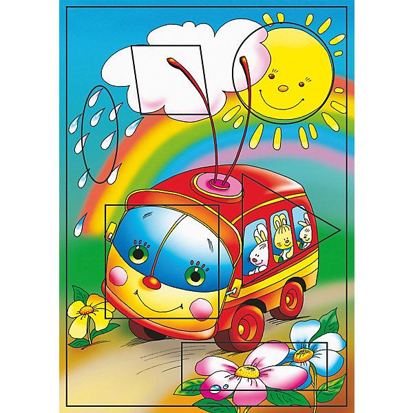 Фигурный пазл Троллейбус Дрофа-МедиаПазлы для малышей<br>Характеристики:<br><br>• тип игрушки: настольная игра;<br>• комплектация: 6 деталей;<br>• возраст: от 3 лет;<br>• размер: 28,5x20х3 см;<br>• издатель: Дрофа;<br>• упаковка: картонная коробка;<br>• материал: картон.<br><br>Игра «РР. Троллейбус. Фигурный» разработана для детей от 3 лет. С разрезными картинками малыш научится подбирать подходящие по форме фрагменты рисунка и складывать их в целое изображение. Элементы мозаики выкладываются на рамку, которая поможет малышу видеть, что он делает правильно, а над чем ещё нужно подумать. Контуры деталей собираемой картинки, повторяющиеся на рамке, позволят не ошибиться в подборе правильного элемента, а картинка-подсказка поможет справиться с заданием самостоятельно.<br><br>Игры научат ребёнка усидчивости, умению доводить начатое дело до конца, помогут развить внимание, память, образное и логическое мышление, сенсорно-моторную координацию движения рук. Разная величина и форма собираемых элементов картинки способствуют развитию мелкой моторики, которая напрямую влияет на развитие речи и интеллектуальных способностей. В дальнейшем хорошая координация движений рук поможет ребёнку легко овладеть письмом.<br><br>Фигурный пазл Троллейбус Дрофа-Медиа можно купить в нашем интернет-магазине.<br>Ширина мм: 285; Глубина мм: 200; Высота мм: 3; Вес г: 120; Возраст от месяцев: 36; Возраст до месяцев: 2147483647; Пол: Унисекс; Возраст: Детский; SKU: 7323670;