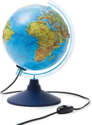 Глобус Земли физико-политический с подсветкой 210мм, артикул:7327225 - Глобусы