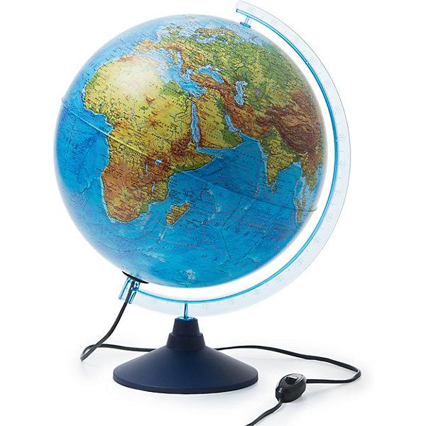 Глобус Земли физико-политический с подсветкой 320ммГлобусы<br>Характеристики:<br><br>• возраст: от 6 лет;<br>• диаметр: 32 см;<br>• материал: пластик;<br>• есть подсветка с переключателем на шнуре;<br>• упаковка: пакет, подарочная коробка;<br>• вес упаковки: 1,1 кг.;<br>• размер упаковки: 32,1х32,1х34,5 см;<br>• страна производитель: Россия.<br><br>Глобус Земли от компании Globen расположен на удобной подставке и красиво подсвечивается изнутри. Может служить дополнительным светильником. Физико-политический глобус наглядно отображает внешний вид поверхности планеты и все государственные границы на сегодняшний день, включая Крым в составе России. <br><br>Глобус Земли физико-политический с подсветкой 320 мм можно купить в нашем интернет-магазине.<br>Ширина мм: 321; Глубина мм: 321; Высота мм: 345; Вес г: 1100; Возраст от месяцев: 72; Возраст до месяцев: 2147483647; Пол: Унисекс; Возраст: Детский; SKU: 7327228;