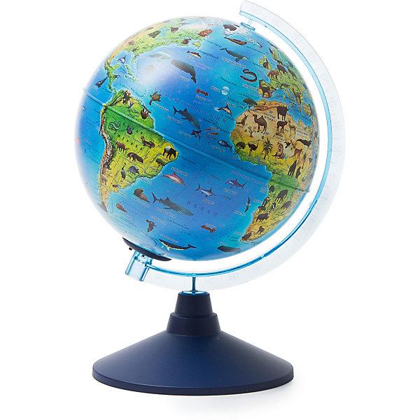 Globen Глобус Зоогеографический (Детский) с подсветкой от батареек