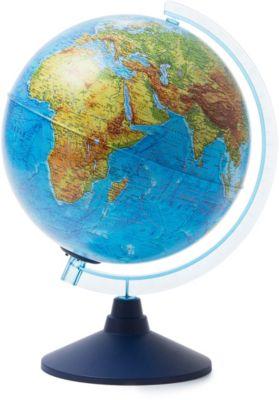 Глобус Земли физико-политический с подсветкой от батареек, артикул:7327231 - Глобусы