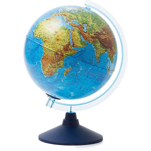 Глобус Земли физико-политический с подсветкой от батареекГлобусы<br>Характеристики:<br><br>• возраст: от 6 лет;<br>• диаметр: 25 см;<br>• материал: пластик;<br>• есть подсветка на батарейках;<br>• типа батареек: 2хАА;<br>• батарейки в комплекте: не в наличии;<br>• вес упаковки: 900 гр.;<br>• размер упаковки: 26х26х27,5 см;<br>• страна производитель: Россия.<br><br>Глобус Земли от компании Globen расположен на удобной подставке и красиво подсвечивается изнутри. Может служить дополнительным светильником в любом месте дома. Физико-политический глобус наглядно отображает внешний вид поверхности планеты и все государственные границы на сегодняшний день, включая Крым в составе России.<br><br>Глобус Земли физико-политический с подсветкой от батареек можно купить в нашем интернет-магазине.<br>Ширина мм: 260; Глубина мм: 260; Высота мм: 275; Вес г: 900; Возраст от месяцев: 72; Возраст до месяцев: 2147483647; Пол: Унисекс; Возраст: Детский; SKU: 7327231;
