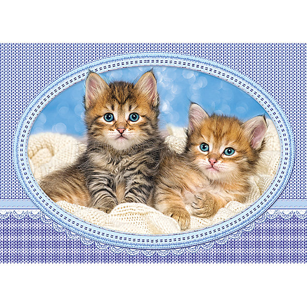 Пазл Castorland Midi Котята на одеяле, 120 деталейПазлы классические<br>Характеристики товара:<br><br>• возраст: от 7 лет;<br>• пол: для девочек и мальчиков;<br>• вид: контурный пазл-мозайка;<br>• количество элементов: 120 шт.;<br>• материал пазла: картон;<br>• размер картинки: 32х23 см.;<br>• размер упаковки: 17,5х13х3,7 см.;<br>• вес: 300 гр.;<br>• упаковка: картонная коробка;<br>• страна изготовитель: Польша.<br><br>Пазл представлен с изображением котят, которые лежат на одеяле.<br><br>Процесс сборки способствует развитию образного и логического мышления, наблюдательности, мелкой моторики и координации движений руки.<br><br>Правила игры: вскрыть упаковку и собрать игру по картинке.<br><br>Пазл можно купить в нашем интернет-магазине.<br>Ширина мм: 175; Глубина мм: 130; Высота мм: 37; Вес г: 300; Возраст от месяцев: 84; Возраст до месяцев: 2147483647; Пол: Унисекс; Возраст: Детский; SKU: 7327792;