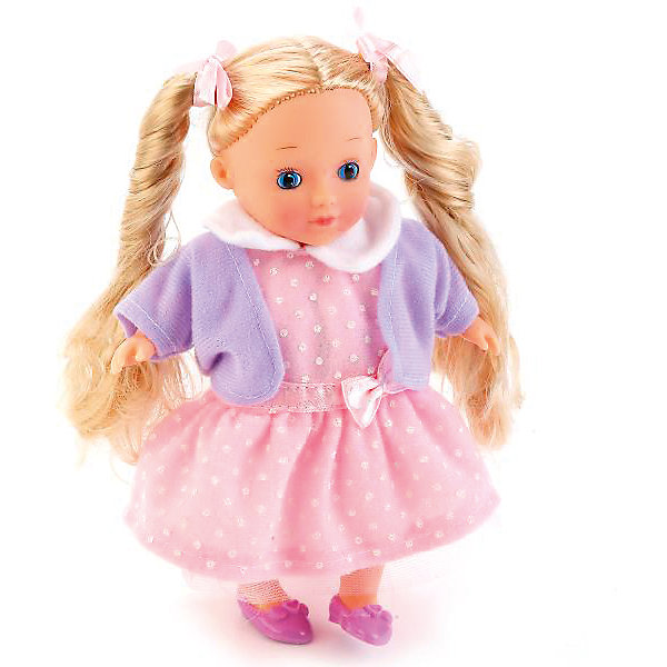 Интерактивная кукла Карапуз 18 см, поет, рассказывает стихиБренды кукол<br>Характеристики товара:<br><br>• высота куклы: 18 см;<br>• возраст: от 3 лет;<br>• батарейки: АА - 2 шт. (входят в комплект);<br>• материал: пластик, текстиль;<br>• размер упаковки: 23х8х14 см;<br>• страна бренда: Россия.<br><br>Кукла высотой 18 сантиметров развлечет девочку и позволит ей проявить заботу. Куклу можно брать с собой в гости, на прогулку, укладывать спать. Если нажать кукле на животик, то она расскажет стихотворения Агнии Барто и споет песенку. Куклу можно расчесывать и создавать ей прически. Куколка одета в розовое платье и фиолетовую кофточку. Ноги и руки подвижны.<br><br>Куклу 18см, озвученную , стихи и песенка А. Барто, Карапуз можно купить в нашем интернет-магазине.<br>Ширина мм: 6; Глубина мм: 5; Высота мм: 18; Вес г: 300; Возраст от месяцев: 36; Возраст до месяцев: 84; Пол: Унисекс; Возраст: Детский; SKU: 7328027;