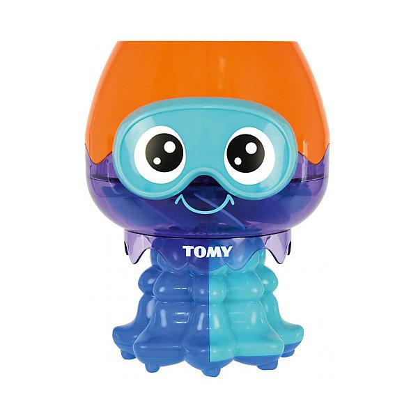 Игрушка для ванны Tomy Веселая медузаДинамические игрушки<br>Характеристики товара:<br><br>• возраст: от 12 месяцев:<br>• материал: пластик;<br>• размер упаковки: 15х14х17,5 см;<br>• страна бренда: Великобритания.<br><br>Яркая медуза Tomy сделает купание малыша веселым и интересным, а дети постарше смогут использовать медузу для разнообразных игр. Игрушка состоит из большой головы-чаши и щупалец с отверстиями. Если набрать в чашу воды, из щупалец польется водичка. Покрутив медузу, можно сделать веселые каскадные фонтанчики. Голова, выполненная в синем и оранжевом цветах имеет невероятно выразительные глаза и добрую улыбку. <br><br>С такой игрушкой будет интересно играть дома, на море и пляже. Игрушка изготовлена из качественного пластика, есть сертификат соответствия. <br><br>Игрушку для ванны «Весёлая Медуза», Tomy (Томи) можно купить в нашем интернет-магазине.<br>Ширина мм: 150; Глубина мм: 140; Высота мм: 170; Вес г: 150; Возраст от месяцев: 18; Возраст до месяцев: 36; Пол: Унисекс; Возраст: Детский; SKU: 7328058;