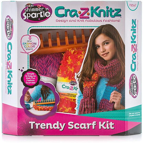 Cra-z-knitz Набор для вязания ШарфНаборы для вязания<br>Характеристики:<br><br>• тип игрушки: набор для вязания;<br>• комплектация: 1прямоугольный станок для вязания,, 1 клубок нити, 2 вида ниток по 53 м каждая, 1 вязальный крючок,  1 вязальная игла,  инструкция;<br>• возраст: от 14 лет;<br>• вес: 512 гр;<br>• материал: текстиль, металл, пластик;<br>• размер: 7х30х28 см;<br>• тип упаковки: коробка;<br>• бренд: Cra-z-knitz.<br><br>Cra-z-knitz Набор для вязания «Шарф» - отличный подарок начинающей рукодельнице. Комплект приспособлений и материалов поможет  девочке освоить интересный вид рукоделия, что впоследствии может перерасти в настоящее хобби. Набор содержит все необходимое для первых шагов в этом увлекательном занятии. Комплектация включает: 1прямоугольный станок для вязания, 1 клубок нити, 2 вида ниток по 53 м каждая, 1 вязальный крючок,  1 вязальная игла,  инструкция.<br><br> При помощи инструкции, в которой подробно расписан каждый этап вязания, девочка с легкостью и без посторонней помощи свяжет себе шарф. Законченное изделие можно будет носить или подарить любимой подруге. Подобный набор вызовет интерес у ребенка к рукодельному творчеству, что может поспособствовать развитию таланта.<br><br>Cra-z-knitz Набор для вязания «Шарф» можно купить в нашем интернет-магазине.<br>Ширина мм: 70; Глубина мм: 300; Высота мм: 280; Вес г: 0; Возраст от месяцев: 168; Возраст до месяцев: 2147483647; Пол: Унисекс; Возраст: Детский; SKU: 7329078;