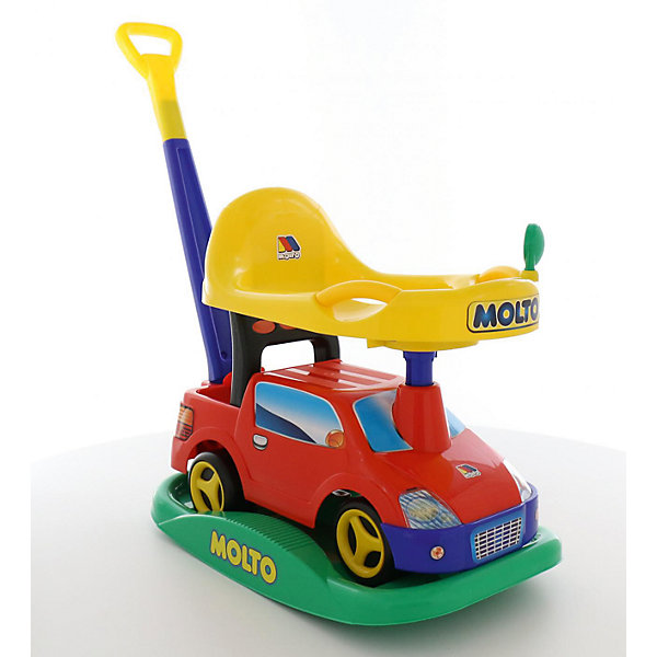 Машина-каталка с ручкой Полесье