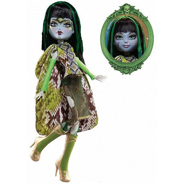 Кукла Playhut Mystixx Grimm Калани, 28 смКуклы<br>Характеристики товара:<br><br>• возраст: от 6 лет;<br>• материал: пластик, текстиль;<br>• в комплекте: кукла, аксессуары;<br>• высота куклы: 29 см;<br>• размер упаковки: 33х30х8 см;<br>• вес упаковки: 833 гр.;<br>• страна производитель: Китай.<br><br>Кукла Мистикс гримм Калани выглядит как настоящий вампир. У нее светлая бледная кожа, зеленые волосы, видны зубки вампира. Необычной особенностью куклы является ее возможность менять облик. Стоит только повернуть ее голову, как она тут же меняется в лице. Благодаря резиновому телу и проволочной конструкции кукла может принимать различные позы. Выполнена из качественных безопасных материалов.<br><br>Куклу Мистикс гримм Калани можно приобрести в нашем интернет-магазине.<br>Ширина мм: 300; Глубина мм: 80; Высота мм: 330; Вес г: 833; Возраст от месяцев: 72; Возраст до месяцев: 120; Пол: Женский; Возраст: Детский; SKU: 7331969;