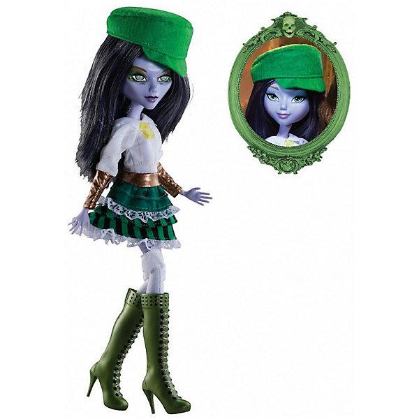 Кукла Playhut Mystixx Zombie Калани, 29 смКуклы модели<br>Характеристики товара:<br><br>• возраст: от 6 лет;<br>• материал: пластик, текстиль;<br>• в комплекте: кукла, парик, расческа;<br>• высота куклы: 29 см;<br>• размер упаковки: 33х30х8 см;<br>• вес упаковки: 833 гр.;<br>• страна производитель: Китай.<br><br>Кукла Мистикс зомби Калани выглядит как настоящий вампир. У нее фиолетовая кожа, темные волосы, видны зубки вампира. Волосы можно расчесывать гребешком, который входит в комплект. Дополнительный парик позволит сменить образ куклы. Необычной особенностью куклы является ее возможность менять облик. Стоит только повернуть ее голову, как она тут же меняется в лице. Благодаря проволочному каркасу и резиновому телу кукла принимает различные позы. Выполнена из качественных безопасных материалов.<br><br>Куклу Мистикс зомби Калани можно приобрести в нашем интернет-магазине.<br>Ширина мм: 300; Глубина мм: 80; Высота мм: 330; Вес г: 833; Возраст от месяцев: 72; Возраст до месяцев: 120; Пол: Женский; Возраст: Детский; SKU: 7331976;
