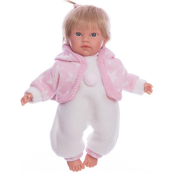 Llorens Кукла-пупс Llorens Кука в белом комбинезоне, 30 см сувенир акм кукла фарфоровая в белом сарафане 7 5 h 9939