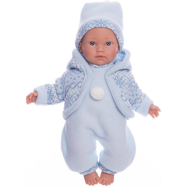 Llorens Кукла-пупс Llorens Кукуй в голубом комбинезоне, 30 см