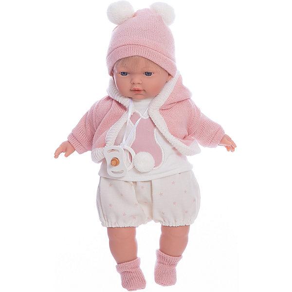 Llorens Кукла-пупс Llorens Кэрол в белой маечке и шортах, 33 см llorens кукла 48 см llorens