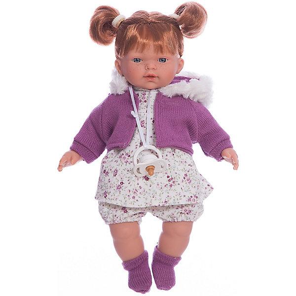 Llorens Кукла-пупс Llorens Алиса в белом платье, 33 см сувенир акм кукла фарфоровая в белом сарафане 7 5 h 9939
