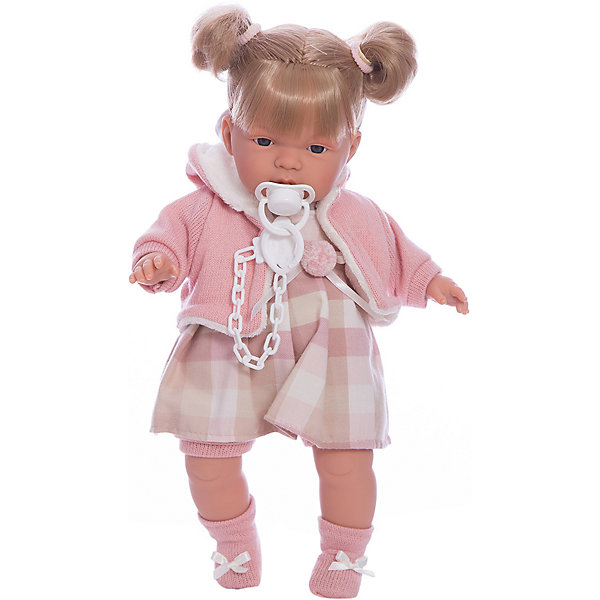 Llorens Кукла-пупс Llorens Люсия в клетчатом платье, 38 см кукла хейди 33 см llorens