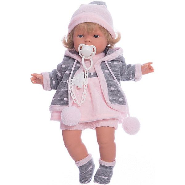 Кукла-пупс Llorens Лола в розовом платье, 38 смКуклы-пупсы<br>Характеристики товара:<br><br>• возраст: от 3 лет;<br>• материал: ПВХ, текстиль;<br>• высота куклы: 38 см;<br>• размер упаковки: 47х23х12 см;<br>• вес упаковки: 960 гр.;<br>• страна производитель: Испания.<br><br>Кукла «Лола в розовом платье» Llorens — очаровательная девочка со светлыми волосами, одетая в платье, теплую кофточку и шапочку с помпоном. У куклы мягконабивное тело, выполненное из ПВХ с наполнителем из синтетического волокна. Игра с куклой прививает малышке чувство заботы, ответственности. <br><br>Куклу «Лола в розовом платье» Llorens можно приобрести в нашем интернет-магазине.<br>Ширина мм: 230; Глубина мм: 120; Высота мм: 470; Вес г: 960; Возраст от месяцев: 36; Возраст до месяцев: 84; Пол: Женский; Возраст: Детский; SKU: 7332014;