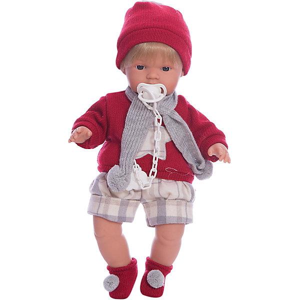 Llorens Кукла-пупс Саша в красной кофточке и шортах, 38 см