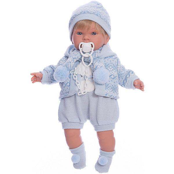 Llorens Кукла-пупс Llorens Лола в голубом боди, 42 см sabadin статуэтка леди с веером в голубом