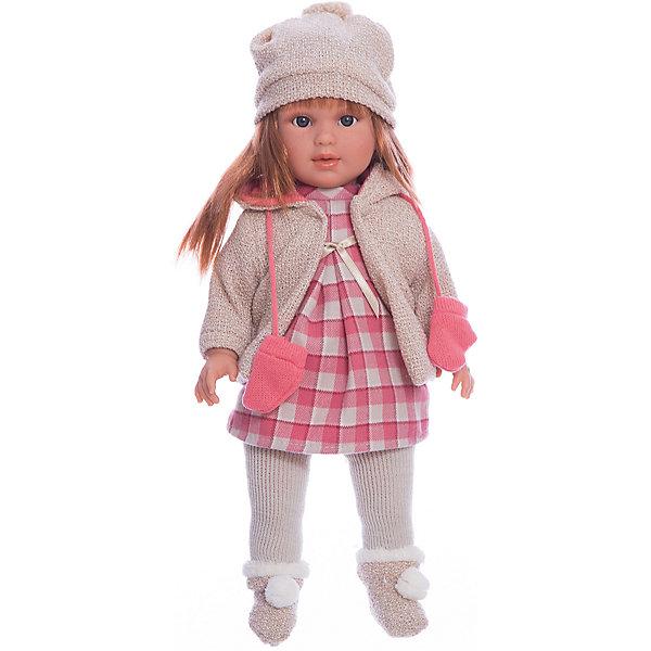Классическая кукла Llorens Мартина в клетчатом платье, 40 смБренды кукол<br>Характеристики товара:<br><br>• возраст: от 3 лет;<br>• материал: ПВХ, текстиль;<br>• высота куклы: 40 см;<br>• размер упаковки: 47х23х12 см;<br>• вес упаковки: 1,17 кг;<br>• страна производитель: Испания.<br><br>Кукла «Мартина в клетчатом платье» Llorens — очаровательная девочка с темными волосами, одетая в платье, теплую кофточку, шапочку и носочки. У куклы мягконабивное тело; руки, ноги и голова из ПВХ. Благодаря шарнирам ноги и ручки куклы подвижны, голова крутится в разные стороны. Игра с куклой прививает малышке чувство заботы, ответственности. <br><br>Куклу «Мартина в клетчатом платье» Llorens можно приобрести в нашем интернет-магазине.<br>Ширина мм: 230; Глубина мм: 120; Высота мм: 470; Вес г: 1170; Возраст от месяцев: 36; Возраст до месяцев: 84; Пол: Женский; Возраст: Детский; SKU: 7332027;