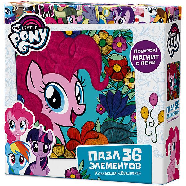 Пазл Origami My little pony 36 элементов + магнит Пинки ПайПазлы для малышей<br>Характеристики товара:<br><br>• возраст: от 3 лет;<br>• пол: для девочек;<br>• герой: мои маленькие пони;<br>• комплект: пазл, магнит;<br>• количество элементов: 36 шт.;<br>• материал пазла: картон;<br>• размер упаковки: 15х15х4,5 см.;<br>• вес: 130 гр.;<br>• упаковка: картонная коробка;<br>• страна обладатель бренда: Россия.<br><br>Пазл это прекрасная возможность провести время с одной из любимых героинь мультсериала. <br><br>По окончанию сборки получится прекрасная картина. <br><br>В набор входит  магнит с пони.<br><br>Пазл можно купить в нашем интернет-магазине.<br>Ширина мм: 150; Глубина мм: 150; Высота мм: 45; Вес г: 130; Возраст от месяцев: 36; Возраст до месяцев: 2147483647; Пол: Унисекс; Возраст: Детский; SKU: 7335549;